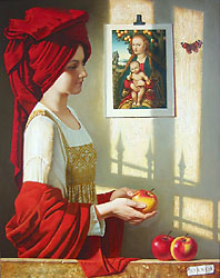 Still Life with Kranach's Madonna by Julia Bekhova