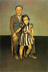 Joan Miro and His Daughter 1937