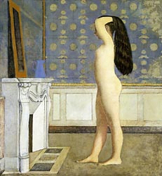 Nu devant le cheminee (Nude in front of the mantel), 1955