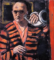 Self Portrait with Horn 1938