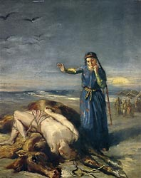 A Cossack Girl finds Mazeppa Unconscious on an Exhausted Wild Horse, 1851