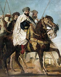 Ali-Ben-Hamet, Caliph of Constantine and Chief of the Haractas, Followed by his Escort, 1845