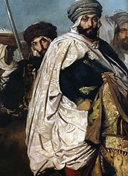 Ali-Ben-Hamet, Caliph of Constantine and Chief of the Haractas, Followed by his Escort (detail), 1845
