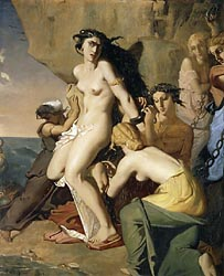 Andromeda Chained to the Rock by the Nereids, 1840
