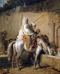 Arab Horsemen at a Fountain in Constantine, 1851
