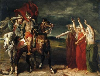 Macbeth and Banquo Encountering the Three Witches on the Heath, 1855