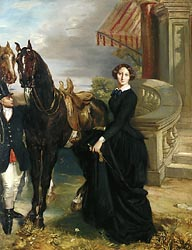 Portrait of Comtesse de Ranchicourt Leaving for the Hunt, 1854