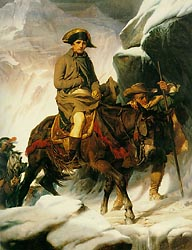 Napoleon Crossing the Alps, 1850