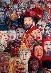 Self-Portrait with Masks, 1892