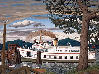The Car Ferry at Sidney B.C., 1952 by E.J. Hughes
