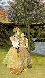 Royal Lovers (a Prince Offering Wine to his Mistress) - Mughal, c1740