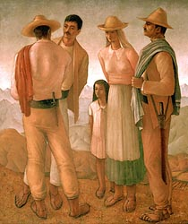 Andean Family, 1944 by Hector Poleo
