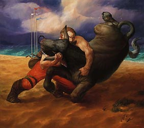 The Defeat of Bull, 2004 (80x90cm)