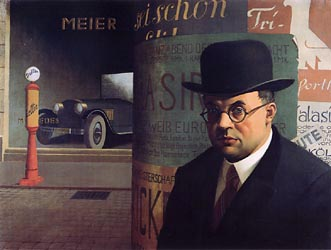 Self in Front of an Advertising Column, 1926