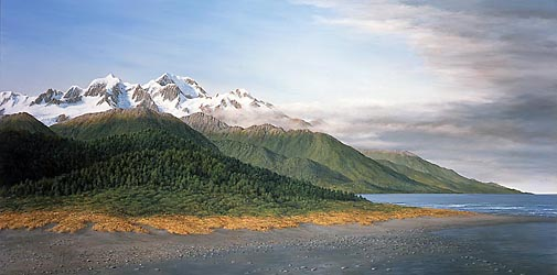 Aoraki from the Coast, 2002 - 760x1520mm